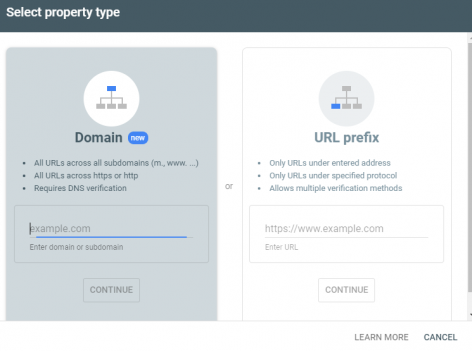 Google search console add property 1 How To Build A Website