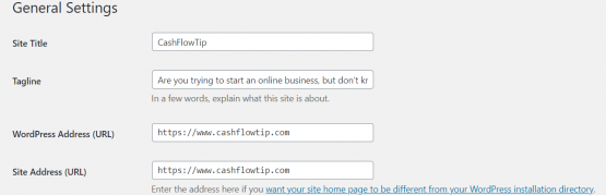 settings How To Build A Website