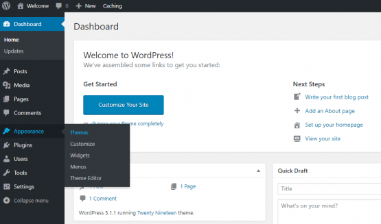 wordpress dashboard themes How To Build A Website